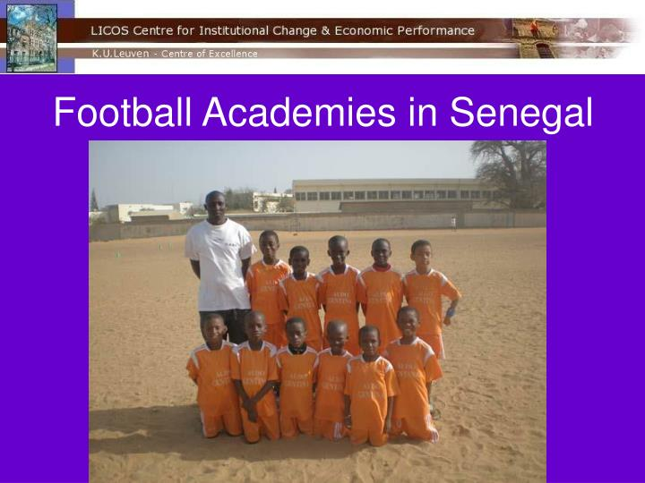 Football Academies in Senegal