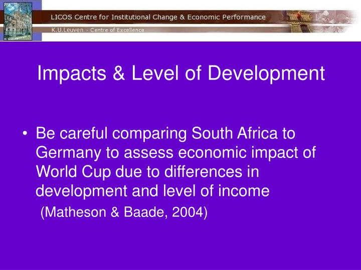 Impacts & Level of Development