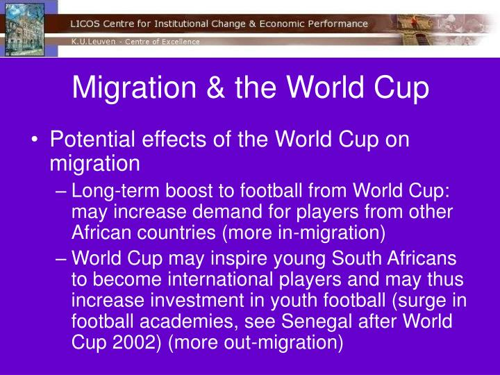 Migration & the World Cup