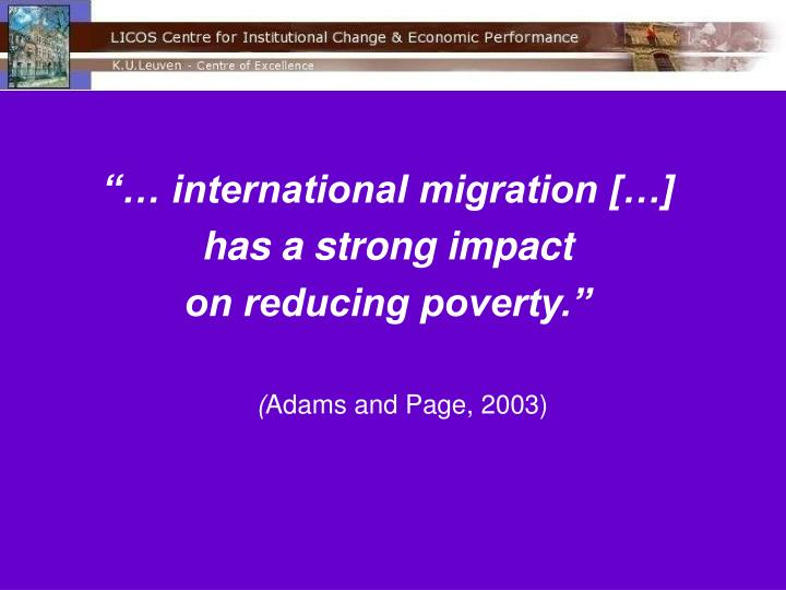 """… international migration […]"