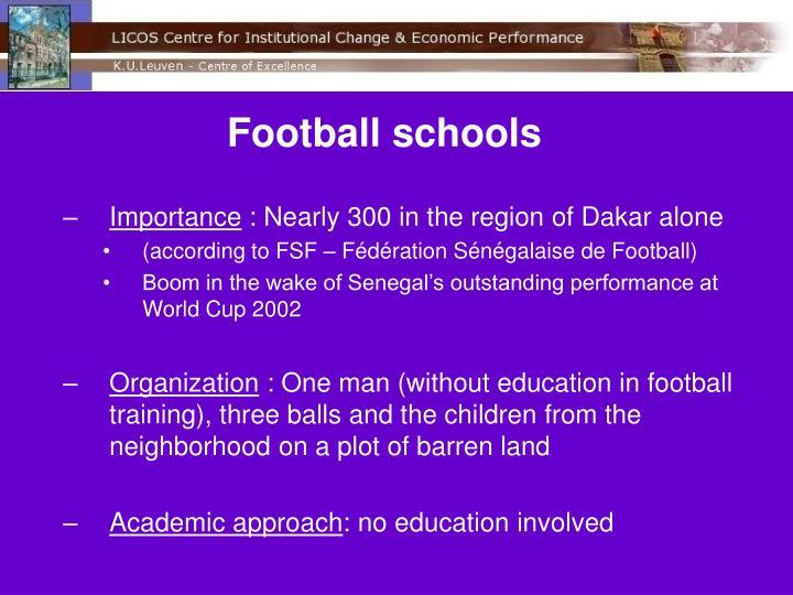 Football schools