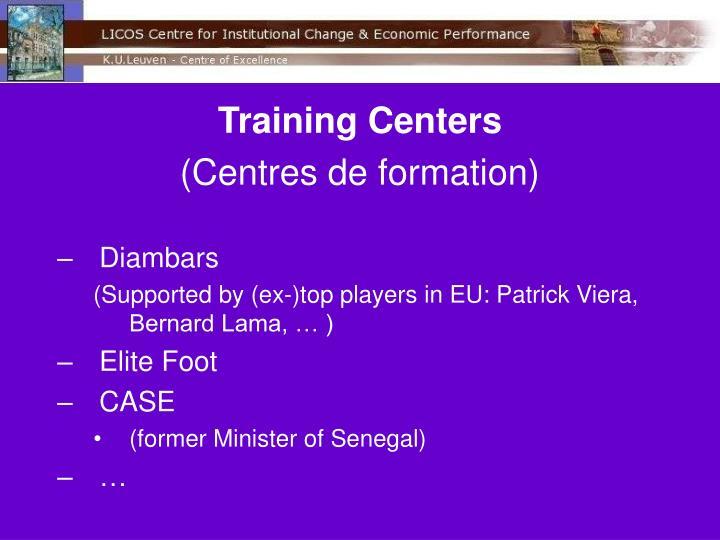 Training Centers