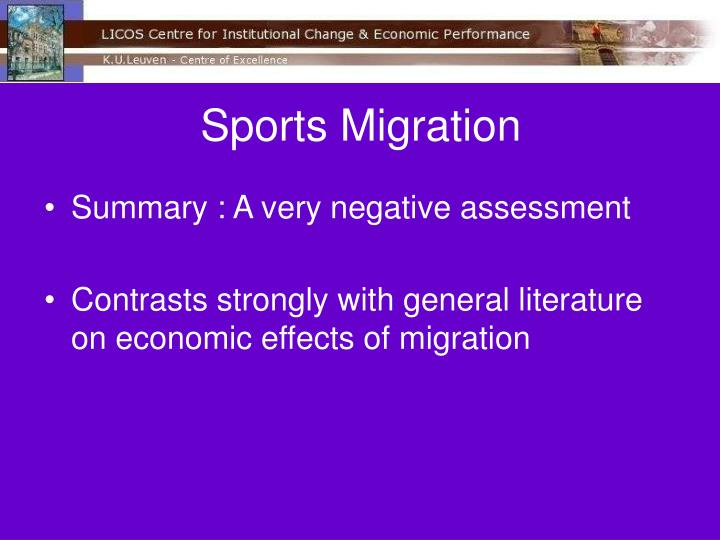 Sports Migration