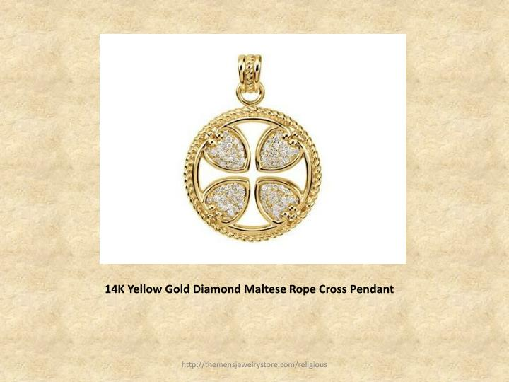14k yellow gold diamond maltese rope cross pendant l.jpg