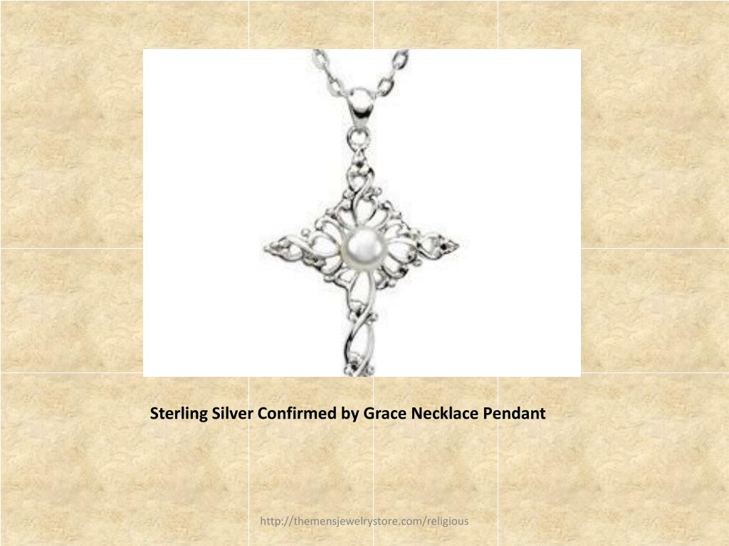 Sterling Silver Confirmed by Grace Necklace Pendant
