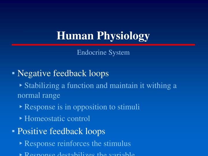Human physiology1
