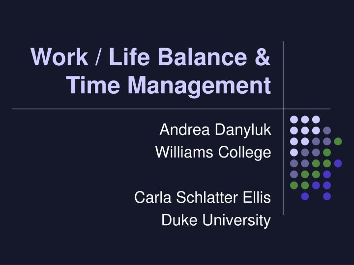 work life balance time management