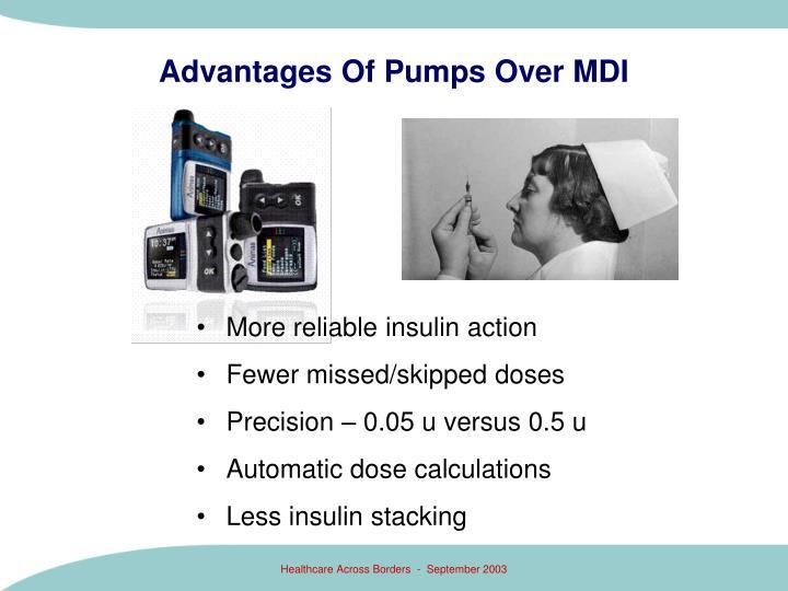 Advantages Of Pumps Over MDI