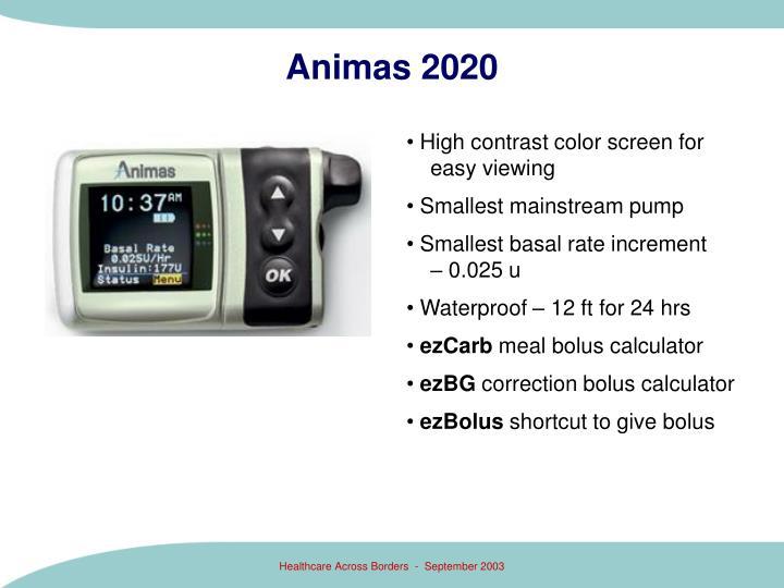Animas 2020