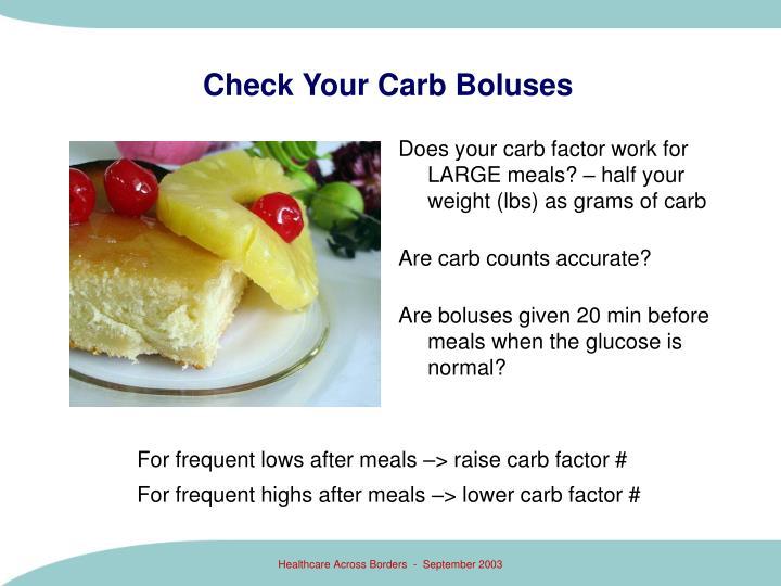 Check Your Carb Boluses