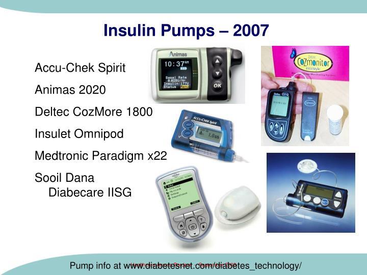 Insulin Pumps – 2007