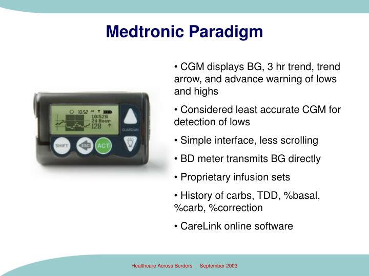 Medtronic Paradigm
