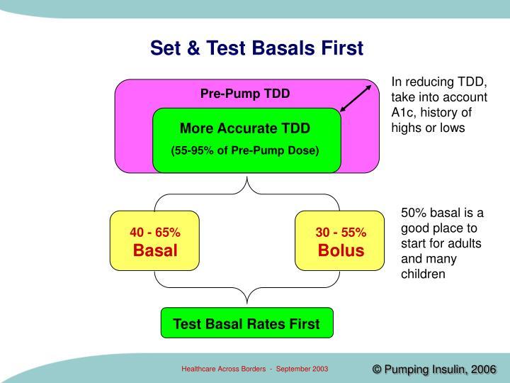 Set & Test Basals First