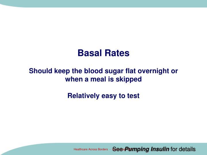 Basal Rates