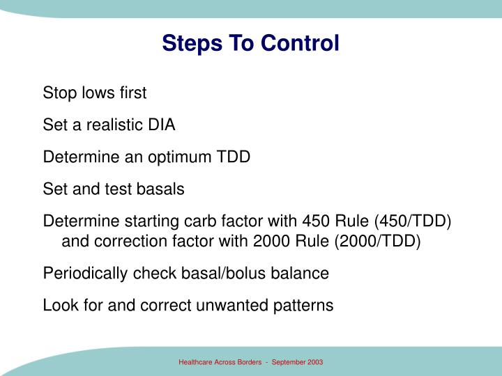 Steps To Control
