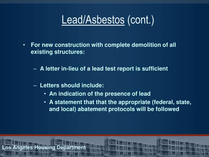 Lead/Asbestos