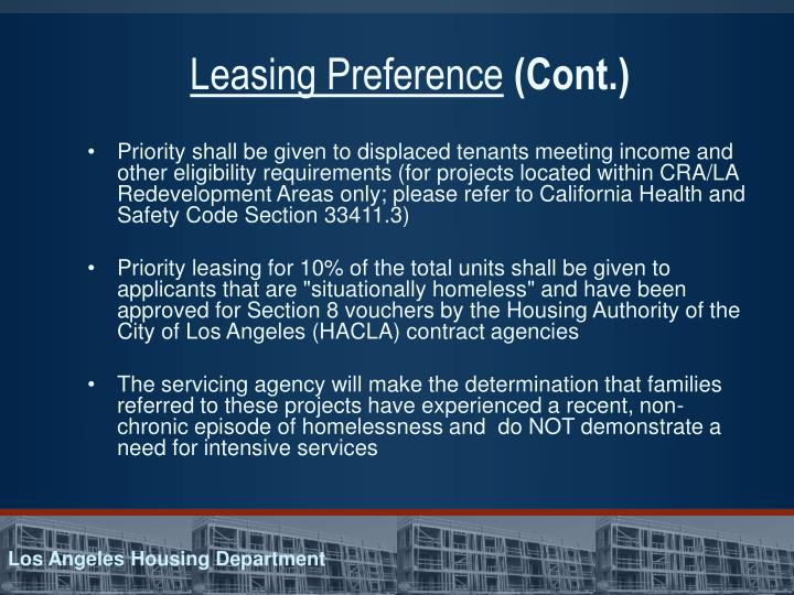 Leasing Preference