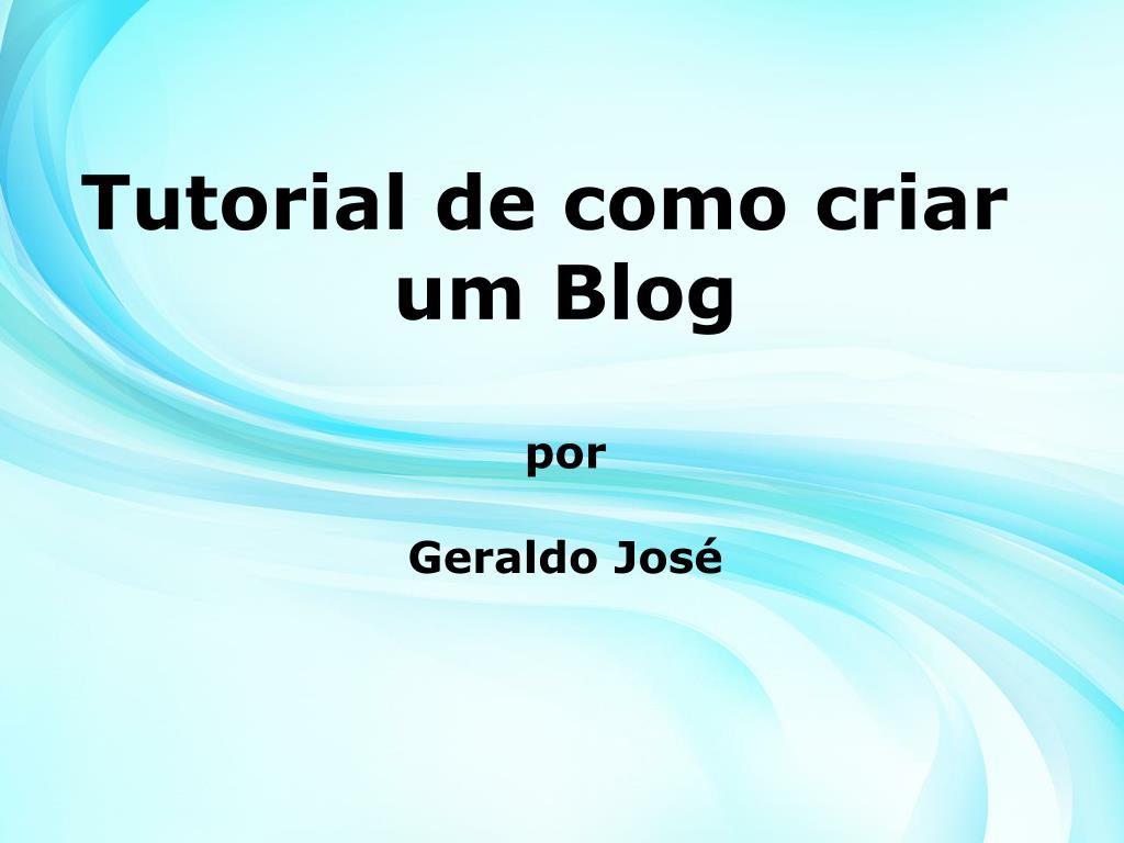 Tutorial de como criar um Blog