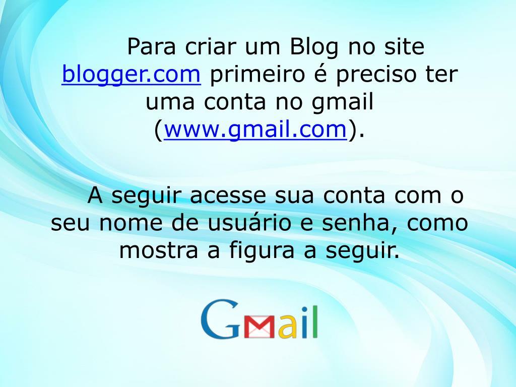 Para criar um Blog no site