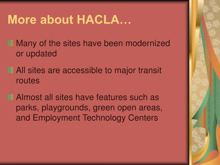 More about hacla