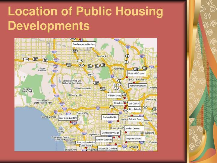 Location of Public Housing Developments