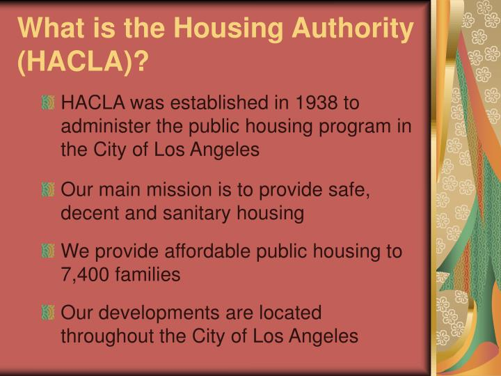 What is the Housing Authority (HACLA)?