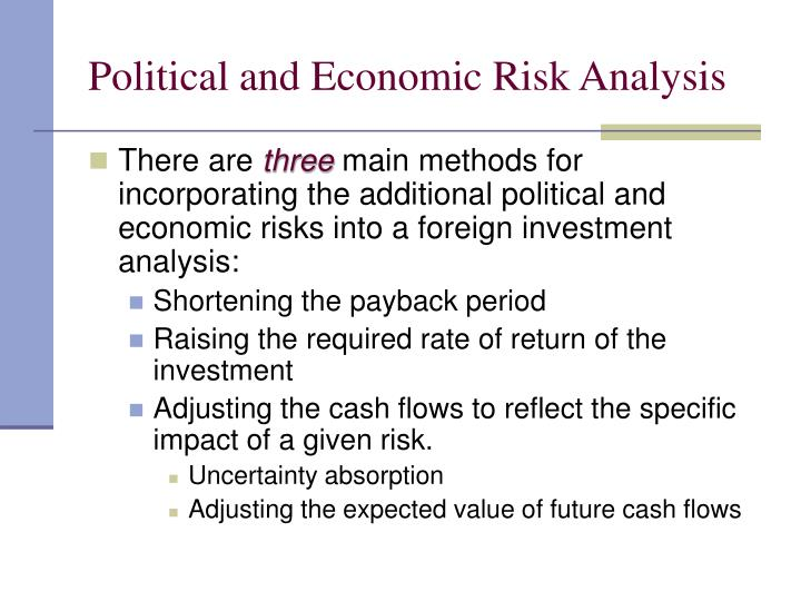 Risk and Uncertainty Analysis   Capital Budgeting