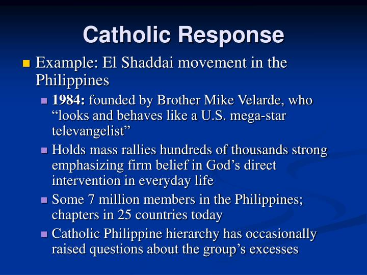 Catholic Response