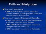 faith and martyrdom
