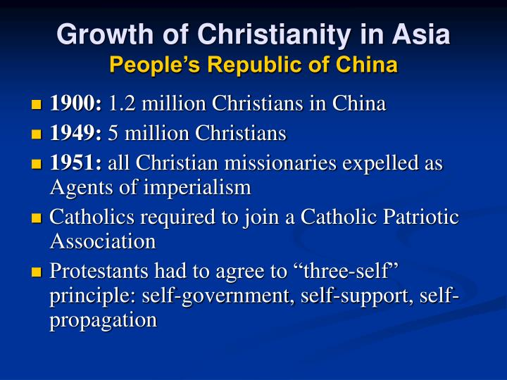 Growth of Christianity in Asia
