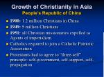 growth of christianity in asia people s republic of china