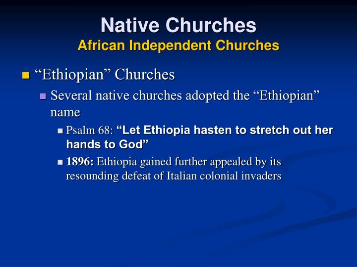 Native Churches