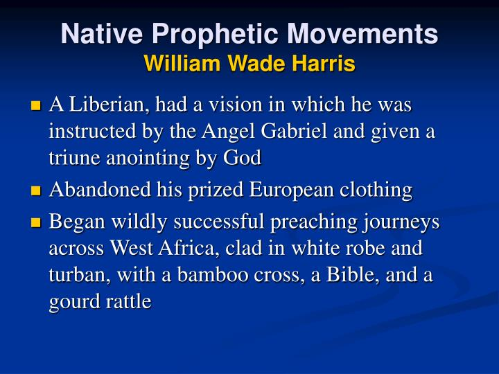 Native Prophetic Movements