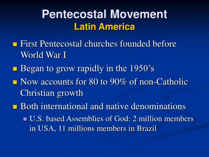 Pentecostal Movement