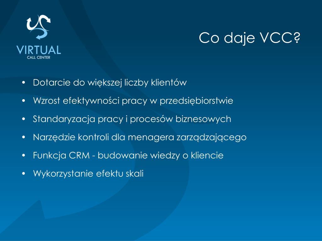 Co daje VCC?