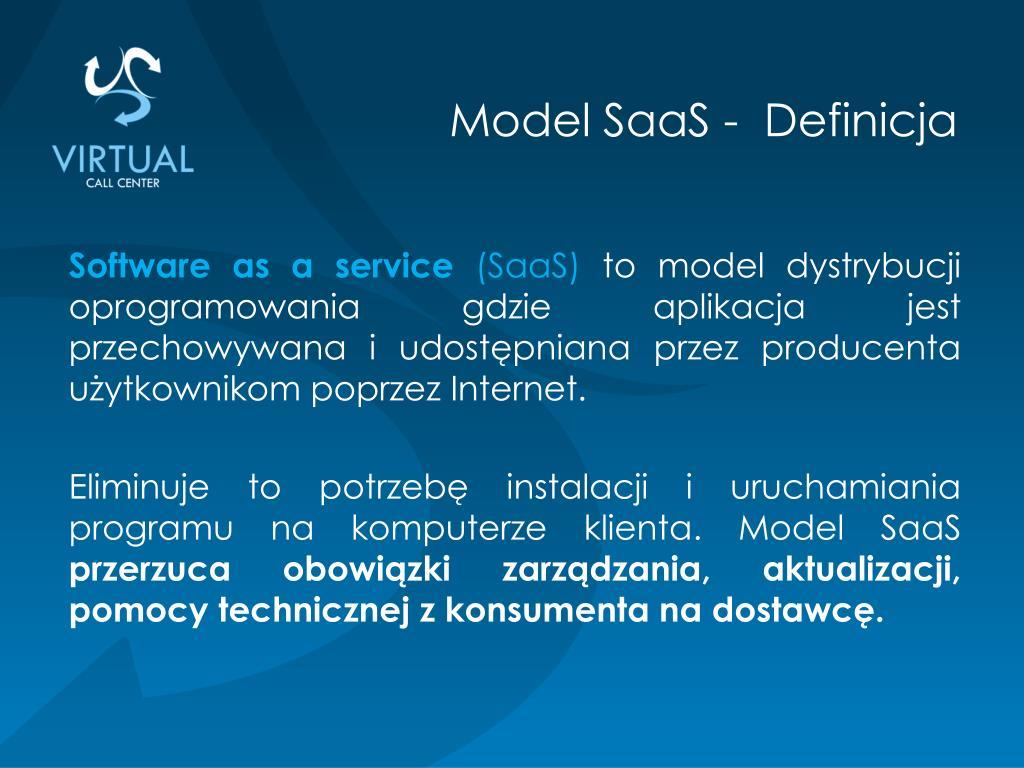 Model SaaS -  Definicja