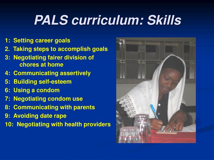 PALS curriculum: Skills