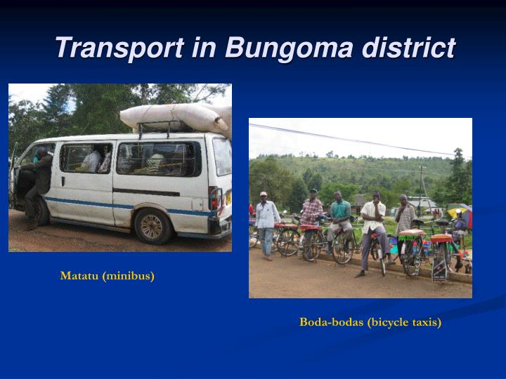 Transport in Bungoma district