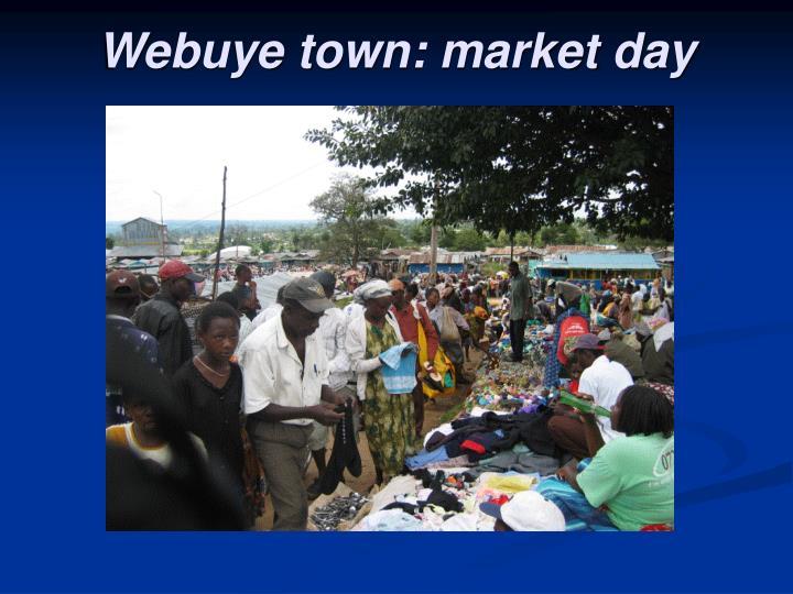 Webuye town: market day