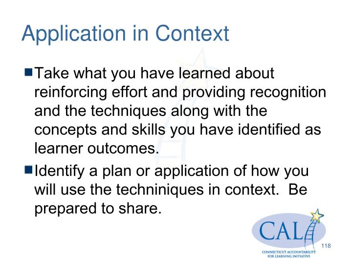 Application in Context