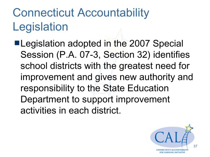 Connecticut Accountability Legislation
