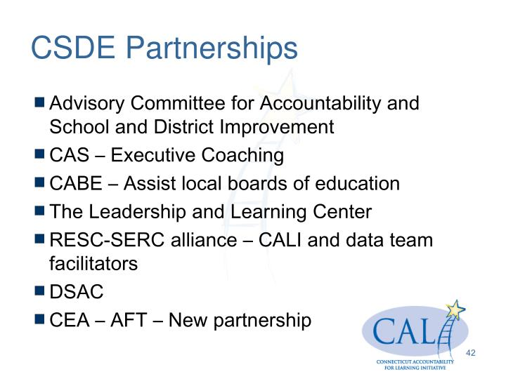 CSDE Partnerships