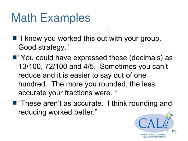 Math Examples