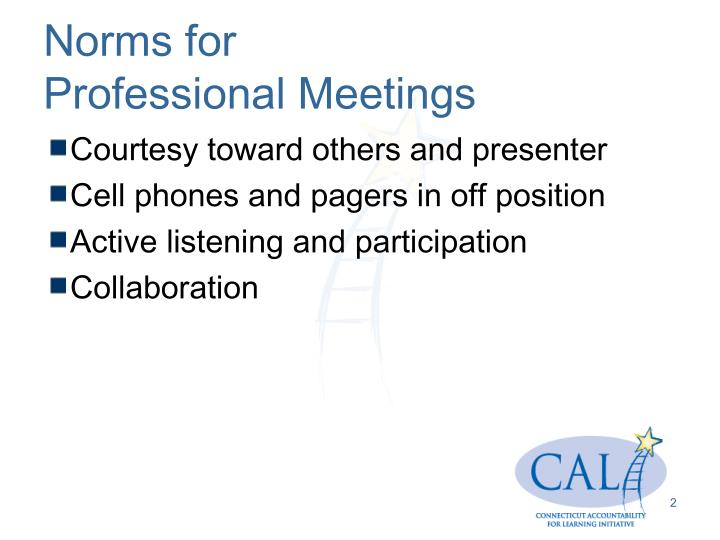 Norms for professional meetings
