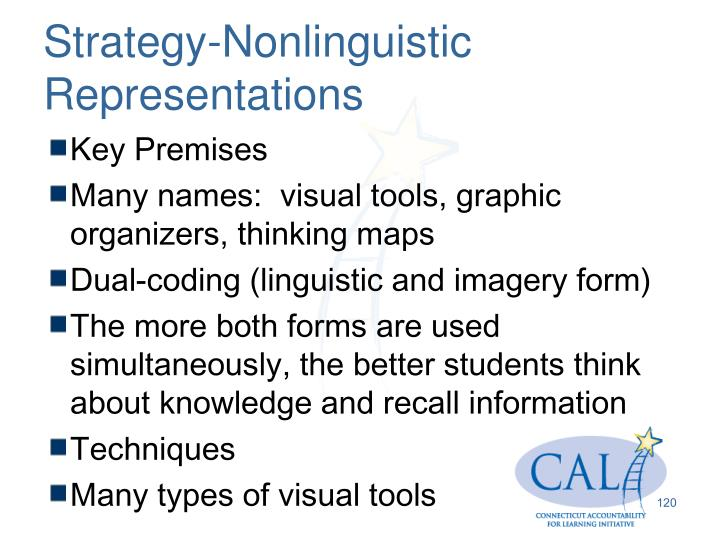 Strategy-Nonlinguistic Representations