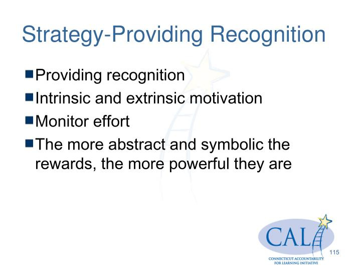 Strategy-Providing Recognition
