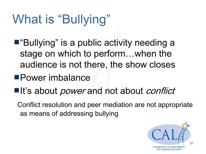 "What is ""Bullying"""