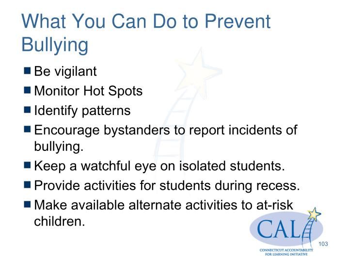 What You Can Do to Prevent Bullying