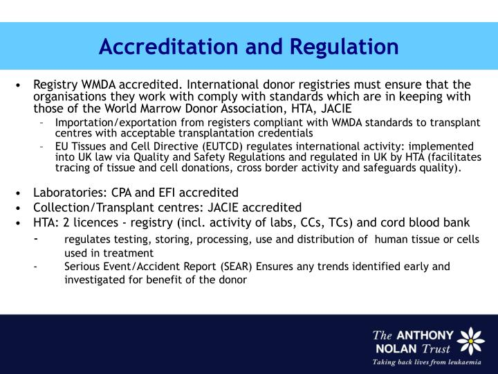Accreditation and Regulation