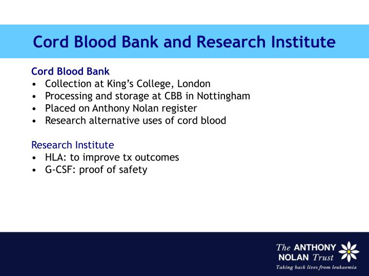 Cord Blood Bank and Research Institute